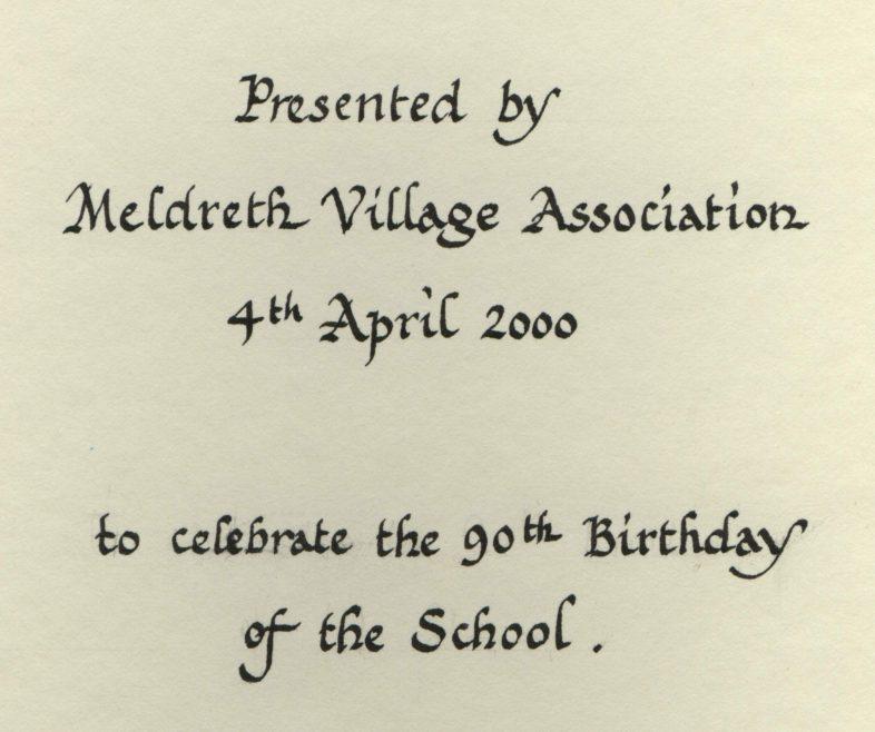 The School's 90th Birthday   Photograph courtesy of Meldreth Primary School