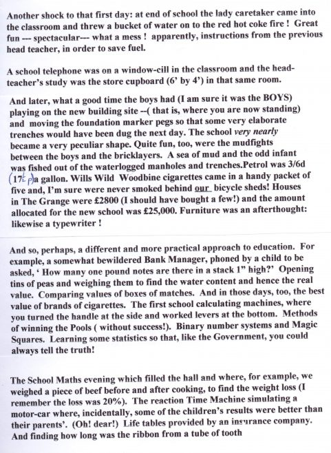 Reflections by Ron Harding, page 2   Photograph courtesy of Meldreth Primary School