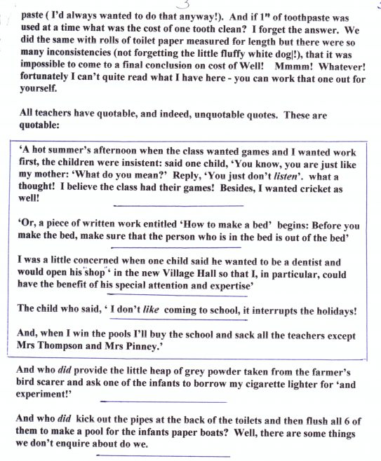 Reflections by Ron Harding, page 3   Photograph courtesy of Meldreth Primary School