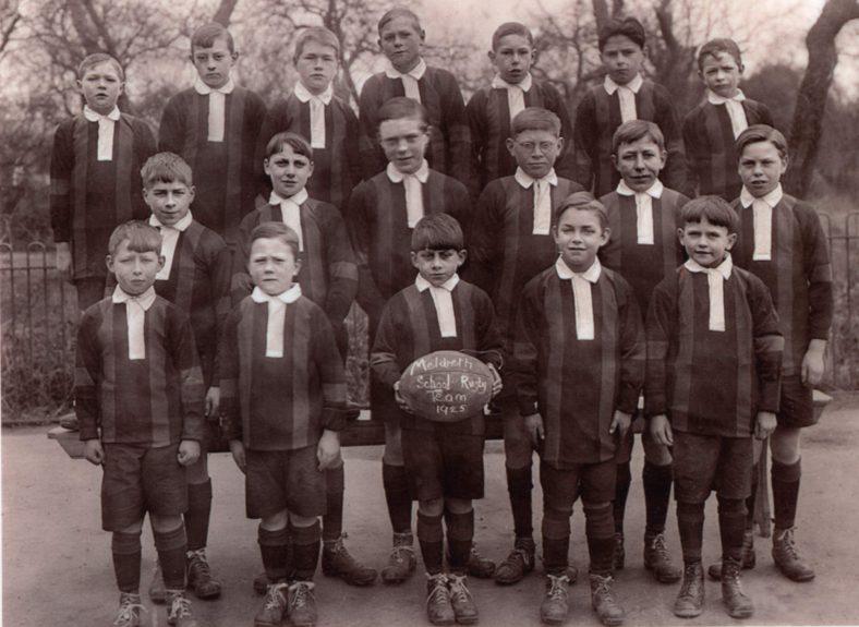 Meldreth School Rugby Team, 1925   Photograph courtesy of Meldreth Primary School