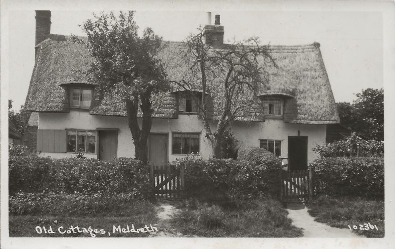 102361 Old Cottages, Meldreth Now 13 North End | Bell's postcard supplied by Mary Findlay