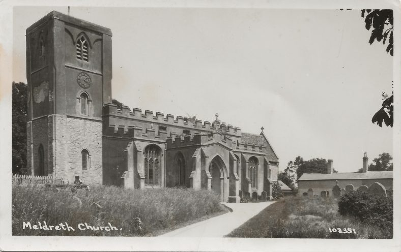 102351 Meldreth Church | Bell's postcard supplied by Mary Findlay