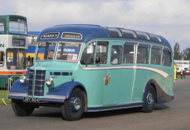 A 1951, Duple-bodied Bedford coach driven by Cyril Kenzie at Duxford, 2014, very similar to the one Alan Pinney remembers from Sunday School outings to the seaside. | www.cbwmagazine.com