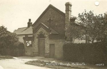 Wesleyan Chapel, North End, Meldreth after the 1906 renovation work, as it would probably have looked in 1939 | Bell's postcard, 1920s, supplied by Ann Handscombe