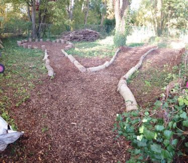 New paths through the garden | Photograph supplied by Meldreth Primary School
