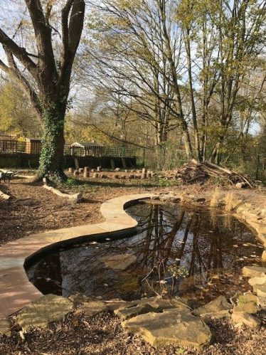 The new pond | Photograph supplied by Meldreth Primary School