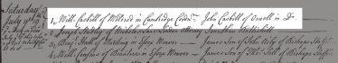 Record of Apprenticeship Duties 1736