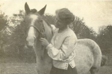 May Newell née Nodder with Peggy, the family pony | Photograph supplied by Colin Newell