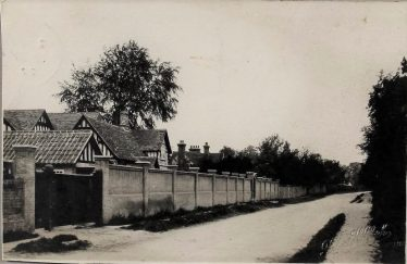 A view of Meldreth High Street in 1924. The Homestead lies beyond The Gables in the foreground.  |  Robert H Clark postcard given by Ann Handscombe