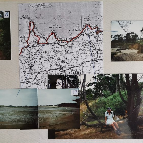 """Map and views of a section of Elizabeth's and Suzanne's 80km expedition along the Grande Randonnee path in Brittany as the final part of their """"Queen's Scout"""" award 
