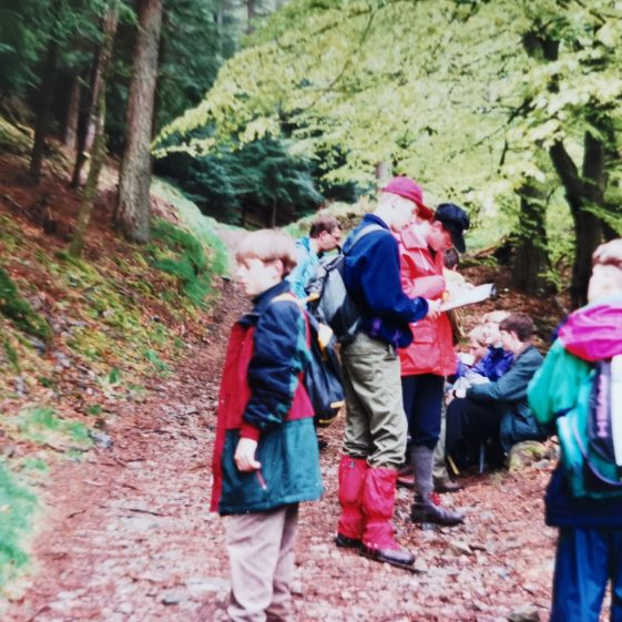 Learning map reading was an important skill to gain on these expeditions | Photograph supplied by Stephen Marshall