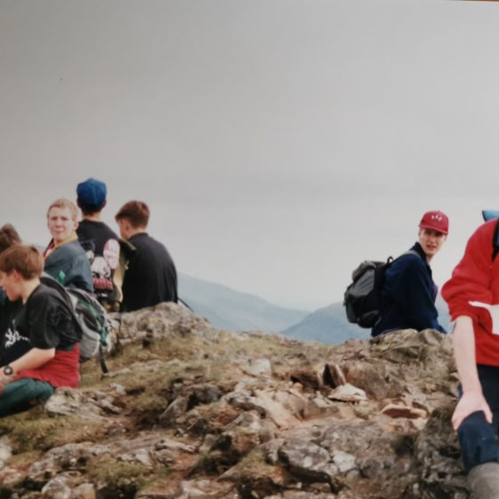 At the summit of a Lake District peak | Photograph supplied by Stephen Marshall