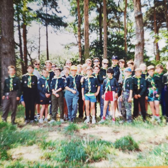 The group photo at summer camp was always taken, but rarely dated or named! | Photograph supplied by Stephen Marshall