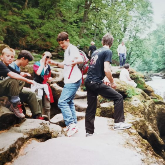 """Hiking by """"The Strid"""" in Wharfdale, Yorkshire 