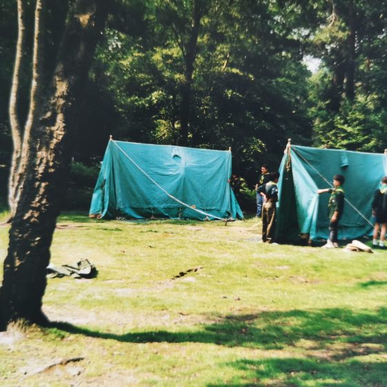 Setting up the tents | Photograph supplied by Stephen Marshall