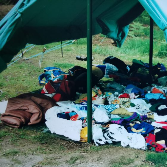 Kit laid out for inspection helped find many lost items! | Photograph supplied by Stephen Marshall