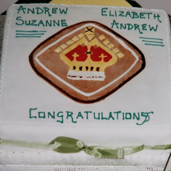 The cake they shared | Photograph supplied by Stephen Marshall