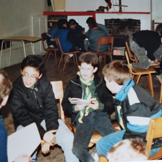 Groups working in the Scout hut | Photograph supplied by Stephen Marshall