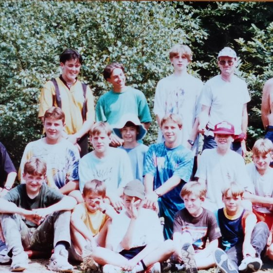 The group photo in camp clothes | Photograph supplied by Stephen Marshall