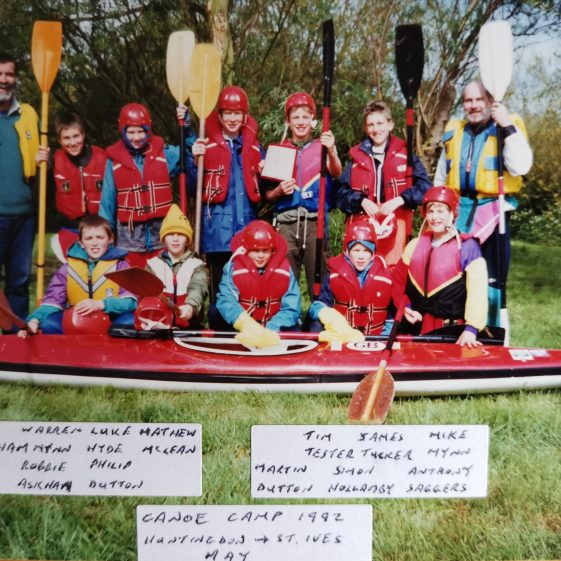 A one day paddle with overnight camp at St. Ives on an island in the river, 1992 | Photograph supplied by Stephen Marshall