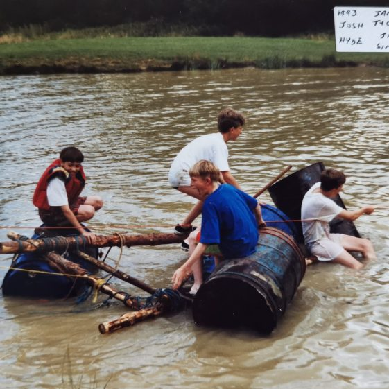 Water always played a large part in summer camp activities, 1993 | Photograph supplied by Stephen Marshall