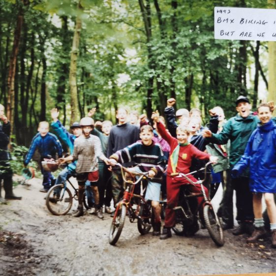 Rain never stopped play – the BMX fun continued, 1993 | Photograph supplied by Stephen Marshall