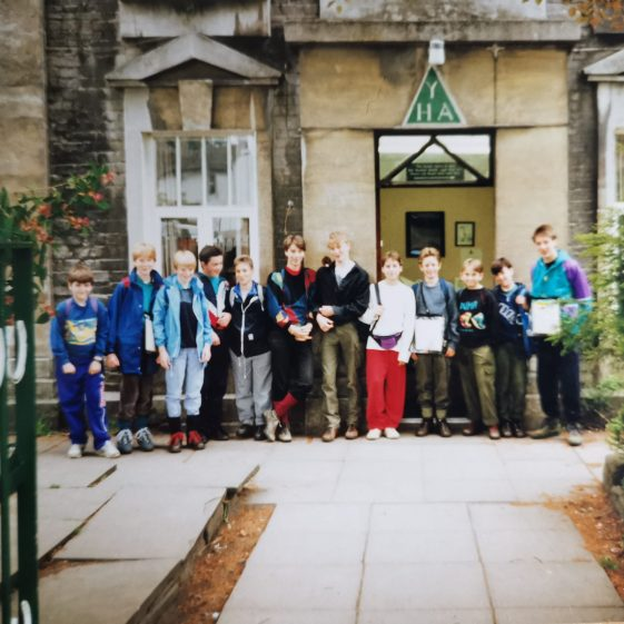 We usually stayed in Youth Hostels, but the Scouts still cooked | Photograph supplied by Stephen Marshall