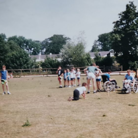 Sports day with Eagle patrol, at Meldreth Manor School | Photograph supplied by Stephen Marshall