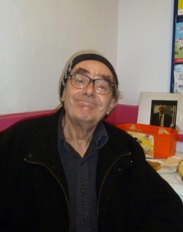 David Piggott in characteristic pose on his retirement day.   Tim Gane