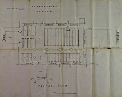 ICBS alternative pewing plan   Lambeth Palace Library