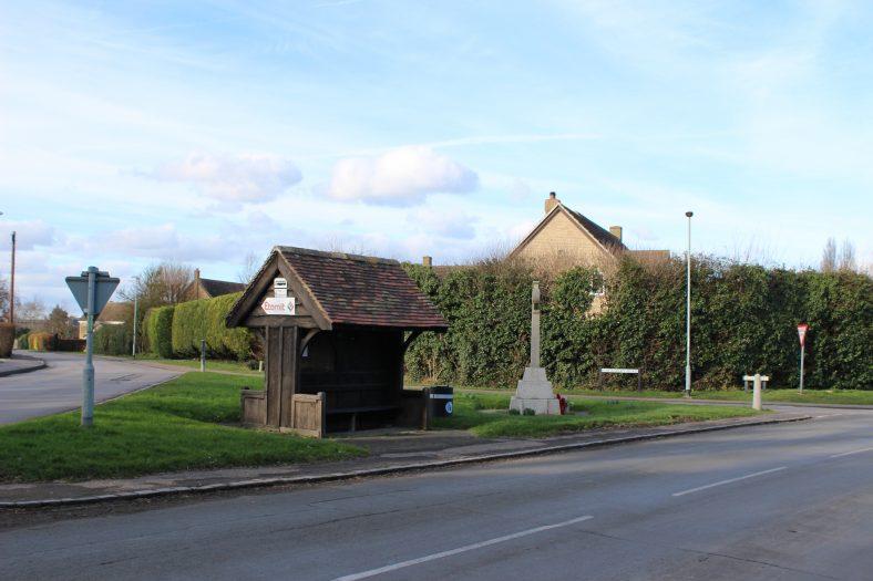 <b>Corner of High Street, Station Road and Whitecroft Road: Entrance to Meldreth</b> | Francesca Churchill, 2016