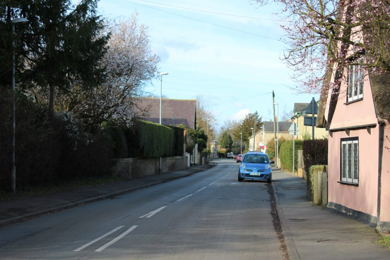 <b>High Street: Keys Cottage is in the foreground</b>   Francesca Churchill, 2016