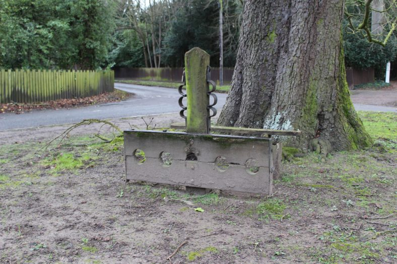 <b>Junction of High Street, Fenny Lane and North End: the Stocks and Whipping Post</b>   Francesca Churchill, 2016
