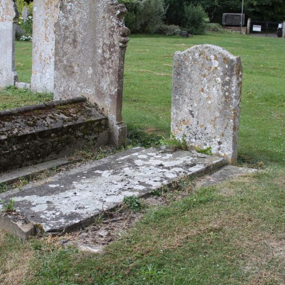 12 (1 of 2): In memory of / ROBERT ELLIS/ who died June 10th 1828/Aged 76 years/ and of/ SARAH his wife/ who died May 10th 1841/ Aged 87 years | Photograph by Malcolm Woods