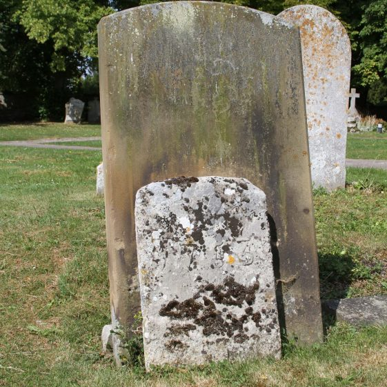 15 (larger stone): Sacred/to the memory of /WILLIAM SCRUBY/ late of Malton/ who departed this life/ April 5th 1854 in the 65th year of his life/ Also of / CHARLOTTE/ (...)/WILLIAM SCRUBY/ 7 years of ... | Photograph by Malcolm Woods