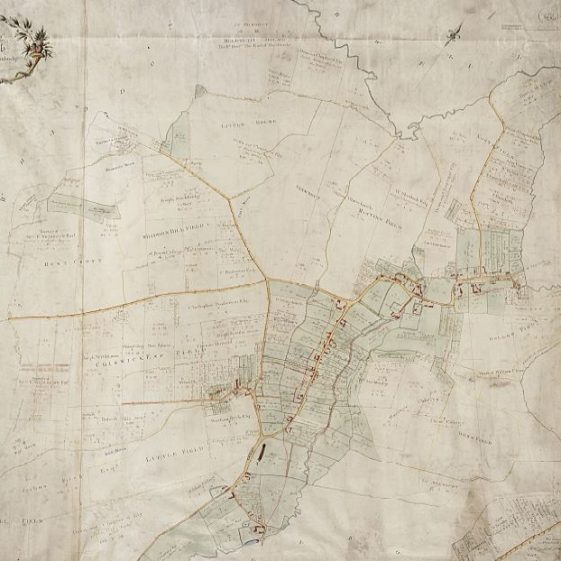 1820 Inclosure Map for Meldreth | Cambridgeshire Archives croc.ma.Q_RDc34