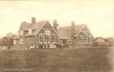 Meldreth School c. 1910 | Postcard supplied by Kathryn Betts