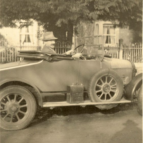 Harry Adcock outside Geneva House, Christmas 1925 | Photograph supplied by Mary Findlay