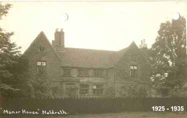 Meldreth Manor House 1926 to 1935