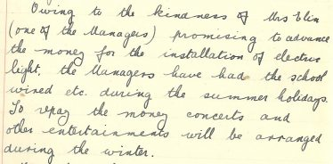 Extract from Meldreth School logbook, 12th September 1932 | Photograph courtesy of Meldreth Primary School