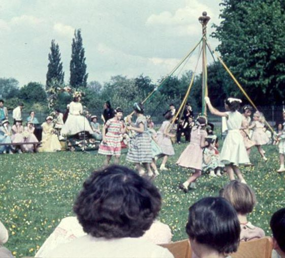 Maypole dancing | Photograph courtesy of Ann Handscombe