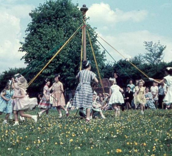 Maypole dancing   Photograph courtesy of Ann Handscombe