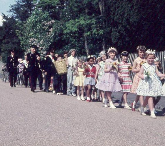 The May Day procession in the High Street   Photograph courtesy of Ann Handscombe