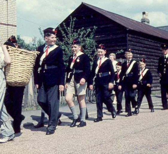 The Church Lads Brigade taking part in the May Day procession | Photograph courtesy of Ann Handscombe