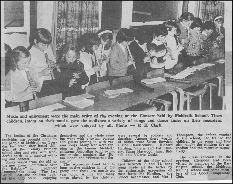 Junior Choral Evening, December 1967<br> | The Royston Crow