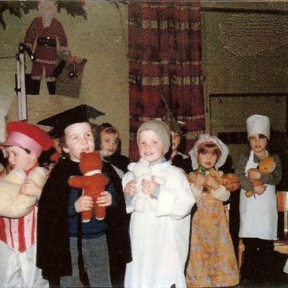 A school production of Wee Willie Winkie, c. 1979 | Photograph courtesy of Pauline Penfold