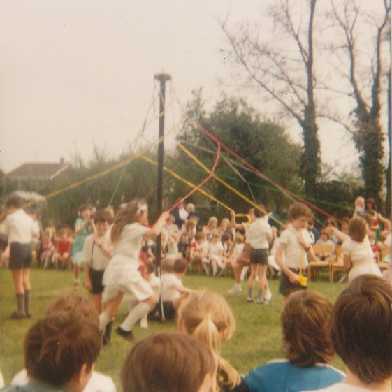 Maypole dancing at the school fete, 1983 | Photograph courtesy of Dawn Browning