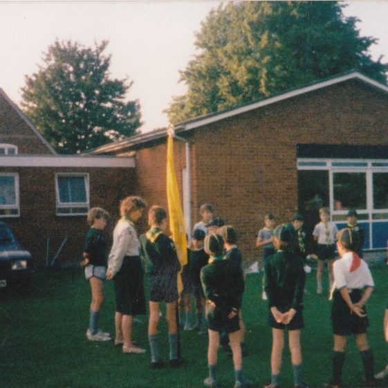 Scouts at the school fete, 1983 | Photograph courtesy of Dawn Browning