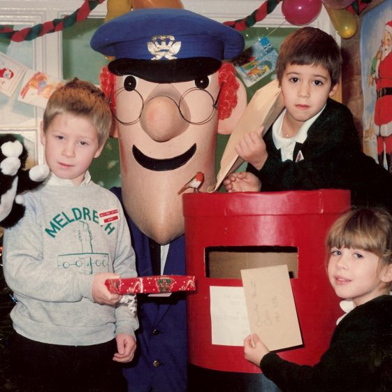 Postman Pat came to open the Post Office, Christmas 1991 | Photograph courtesy of Meldreth Primary School