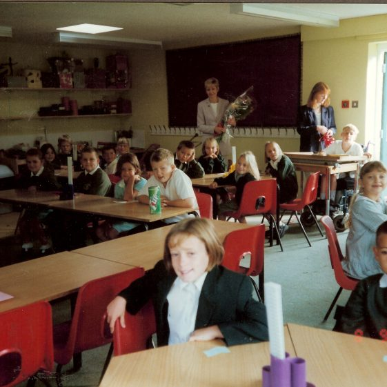 In the classroom, 1999 | Photograph courtesy of Meldreth Primary School